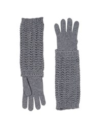 Moncler Accessories Gloves Women Grey
