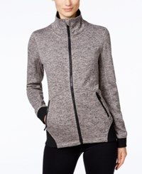 Calvin Klein Performance Sweater Fleece Jacket Driftwood Black
