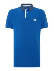 Canterbury Of New Zealand Classic Ccc Pique Polo Shirt Royal
