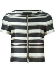 Herno Striped Shortsleeved Jacket Black