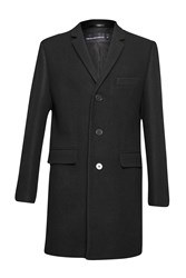 French Connection Melton Overcoat Black