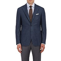 Canali Men's Checked Two Button Sportcoat Blue