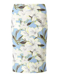 Miss Selfridge Blue Floral Midi Skirt