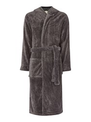 Linea Hooded Robe Charcoal