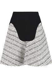 Roland Mouret Heligan Paneled Wool Crepe Mini Skirt Black