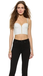 Sass And Bide Zip Front Bustier Ivory