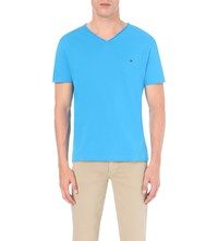 Tommy Hilfiger Lightweight Cotton Jersey T Shirt Blue