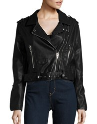 Blank Nyc Faux Leather Double Zip Moto Jacket Squad Goals