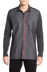 Men's Bogosse 'Trevor' Shaped Fit Long Sleeve Quilted Sport Shirt
