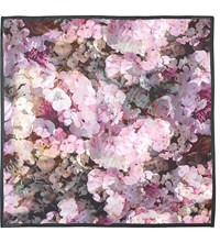 Aspinal Of London Hydrangea Silk Scarf Bordeaux