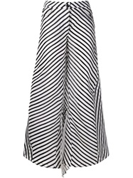 Rosie Assoulin Striped Palazzo Trousers White