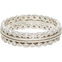 Cathy Waterman Women's Triple Band Ring No Color