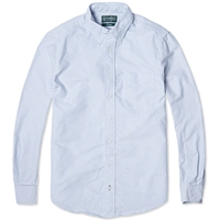 Gitman Vintage Oxford Stripe Shirt White And Blue