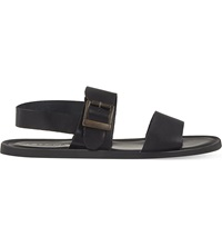 Opera Darte Terni Bi Strap Leather Sandals Black