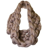 Wool Couture Infinity Scarf Crochet Kit Mink
