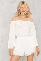 Amara Off The Shoulder Romper White