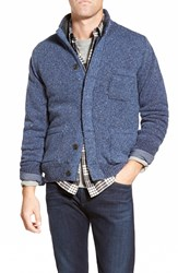 Barbour 'Bennett' Lambswool Tweed Cardigan Dark Chambray