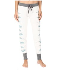 Pj Salvage Southwest Feathers Jogger Soft White Women's Pajama