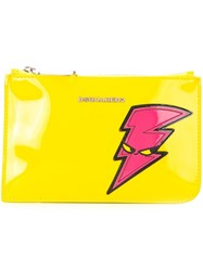 Dsquared2 Punk Patch Pouch Yellow And Orange