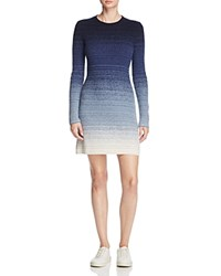 Theory Jiya Charmant Ombre Sweater Dress 100 Bloomingdale's Exclusive Jet Navy Ivory Ombre