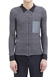 Lanvin Zipped Sweater With Pocket Grey