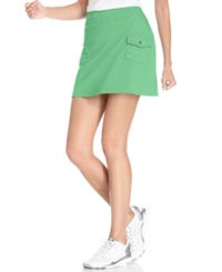 Style And Co. Sport. French Terry Cargo Skort Mint Glaze
