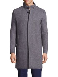 Theory Blended Wool Solid Coat Black Multicolor