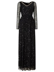 Jacques Vert Embellished Maxi Dress Black