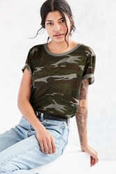 Truly Madly Deeply Camo Marnie Tee Green