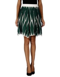 Paola Frani Knee Length Skirts Dark Green