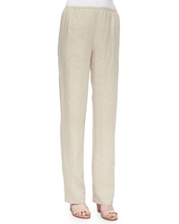 Caroline Rose Tissue Linen Straight Leg Pants Women's