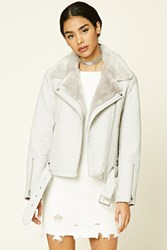 Forever 21 Belted Faux Leather Moto Jacket