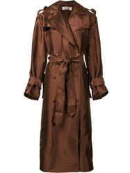 Nina Ricci Creased Trench Coat Brown