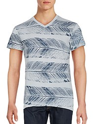 Sol Angeles Feather Print Cotton Tee Steel