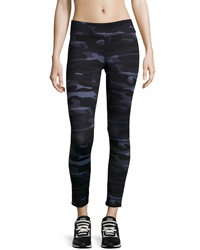 Marc Ny Performance Camo Print Athletic Leggings Black Camo