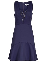 Reiss Fit And Flare Dress Indigo