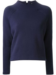 Fad Three Boxy Sweatshirt Blue