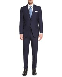 Tom Ford O'connor Base Plain Weave Sharkskin Two Piece Suit Bright Navy