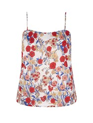Yumi Prairie Poppy Print Camisole Top Multi Coloured