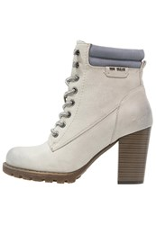 Tom Tailor High Heeled Ankle Boots Ice Off White