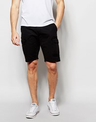 Blend Of America Blend Cargo Shorts Straight Fit In Washed Black Black