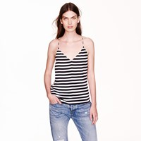 J.Crew Carrie Cami In Stripe Navy White