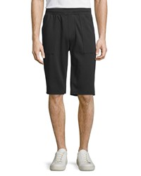 Vince Garment Wash Pull On Shorts Black Women's