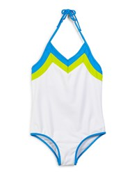 Milly Minis Amalfi Colorblock One Piece Swimsuit White Size 8 14 Girl's Size 10 Multi Colors