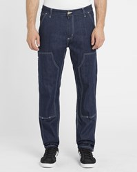 Carhartt Blue Denim Cargo Ruck Double Knee Canyon Trousers