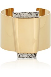 Isabel Marant Gold Plated Resin Cuff Metallic