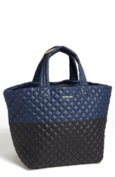 M Z Wallace 'Large Metro' Quilted Tote Prussian Black