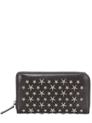 Jimmy Choo Stars Studded Leather Zip Around Wallet