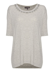 Pied A Terre Lexi Easy Tee Jewelled Grey