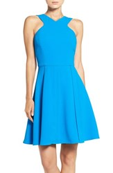 Adelyn Rae Women's Fit And Flare Dress Bright Blue